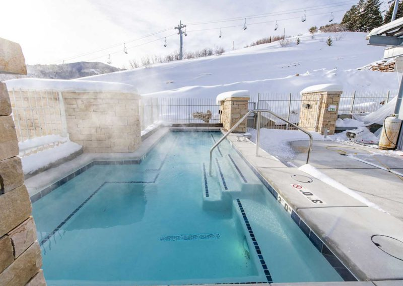 Heated Pool at Apex Residences in Canyons Village Park City, Utah