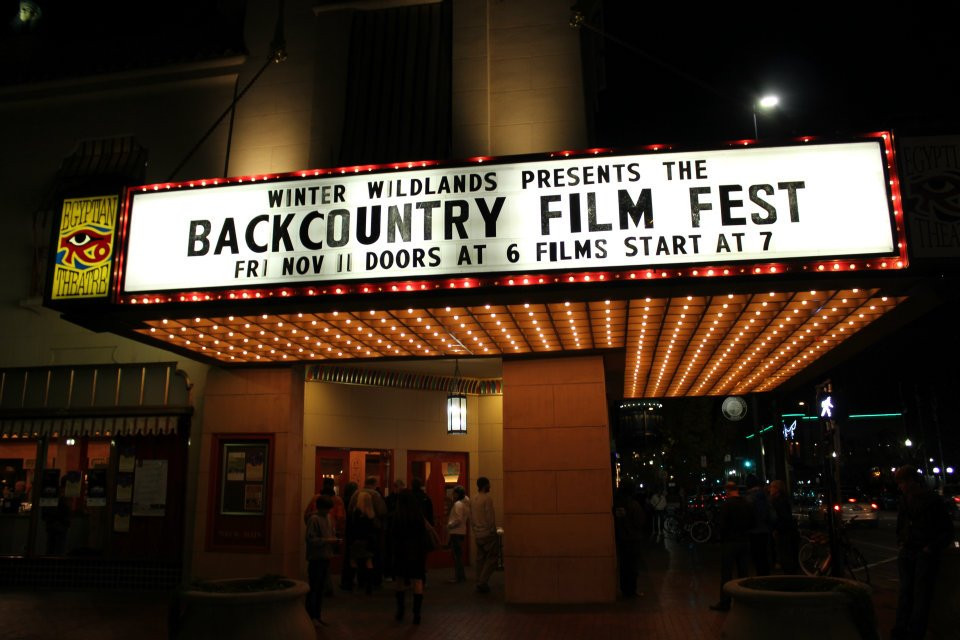 Theatre Marquee for Backcountry Film Festival at the Egyptian Theatre