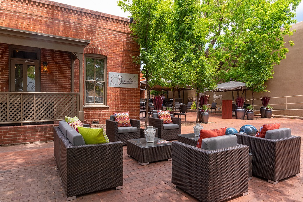 Outdoor Lounge Area in Santa Fe, New Mexico