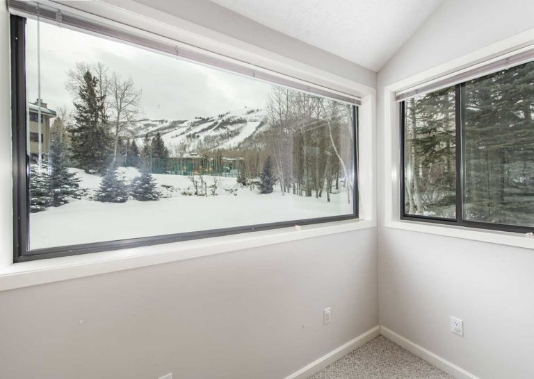 View of Park City Mountain From Inside Three Kings Condominiums