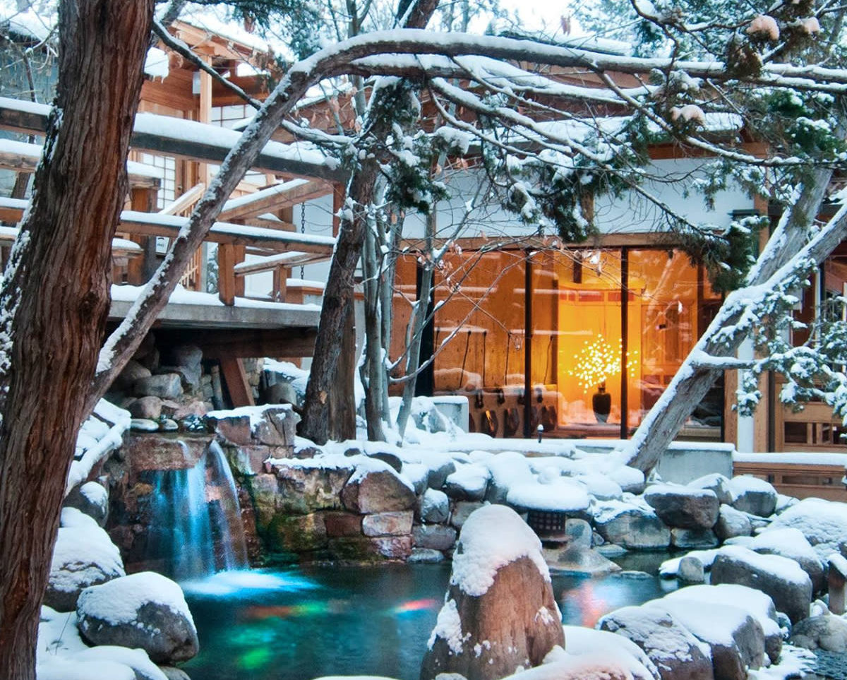 The Thousand Waves Spa Exterior in Santa Fe, New Mexico