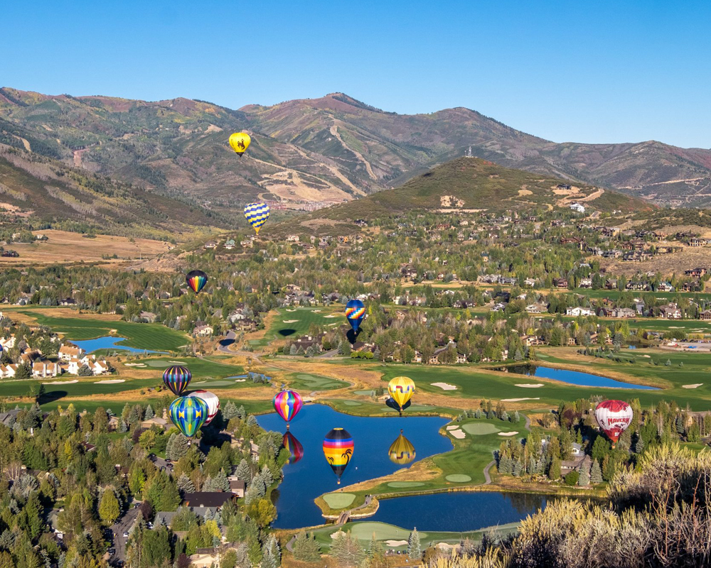 Hot Air Balloons Above Park City