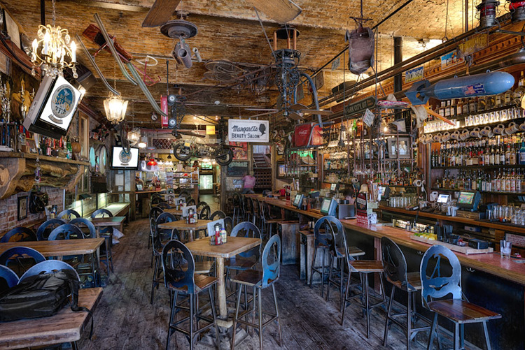 Interior of No Name Saloon in Park City Utah