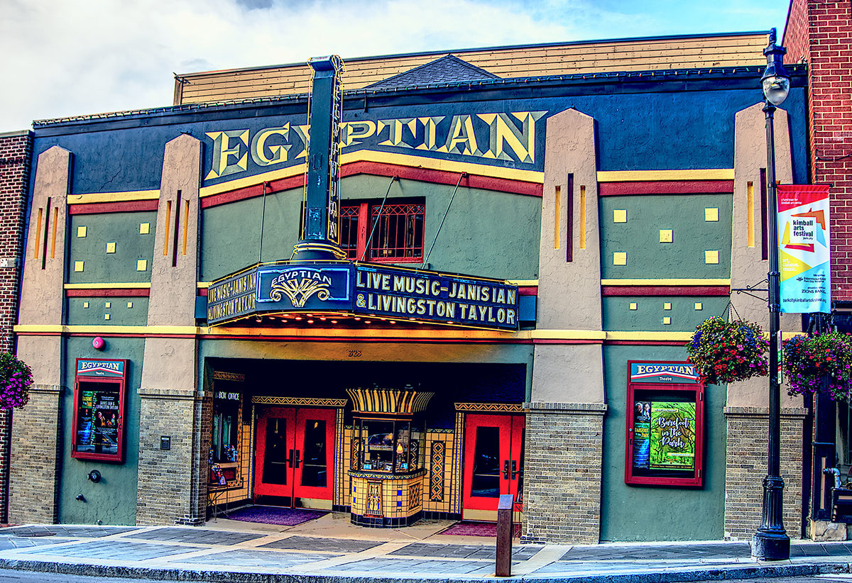 The Egyptian Theatre on Main Street Park City Utah