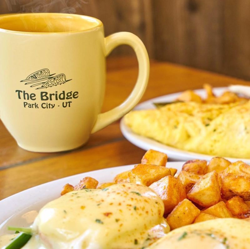 The Bridge Cafe breakfast with eggs and home fries