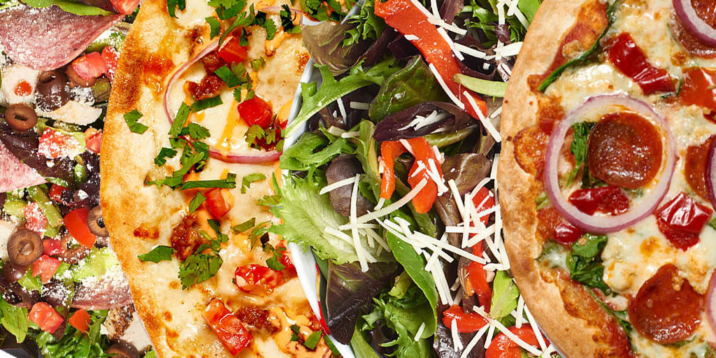 A Variety of Pizzas Up Close