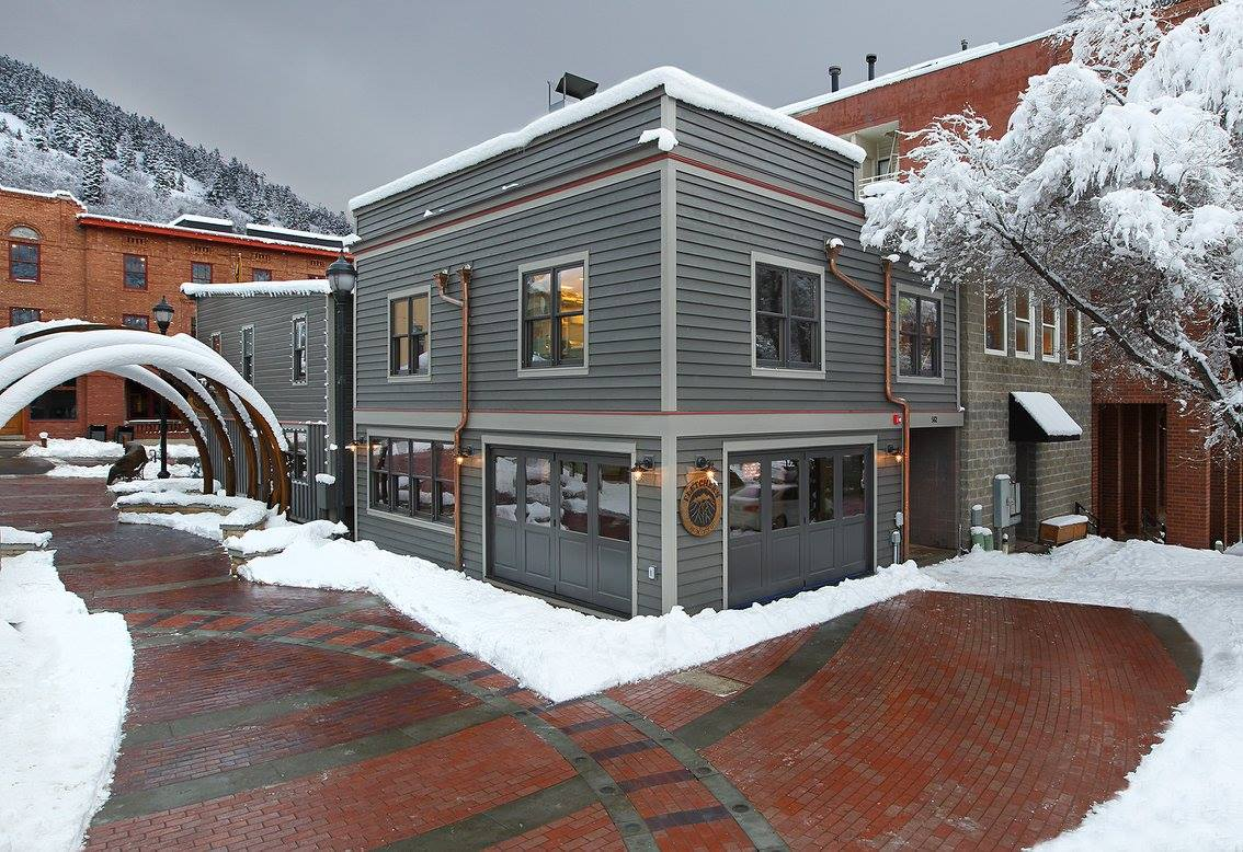 Snow-Covered Trees at Fletchers on Park City's Main Street