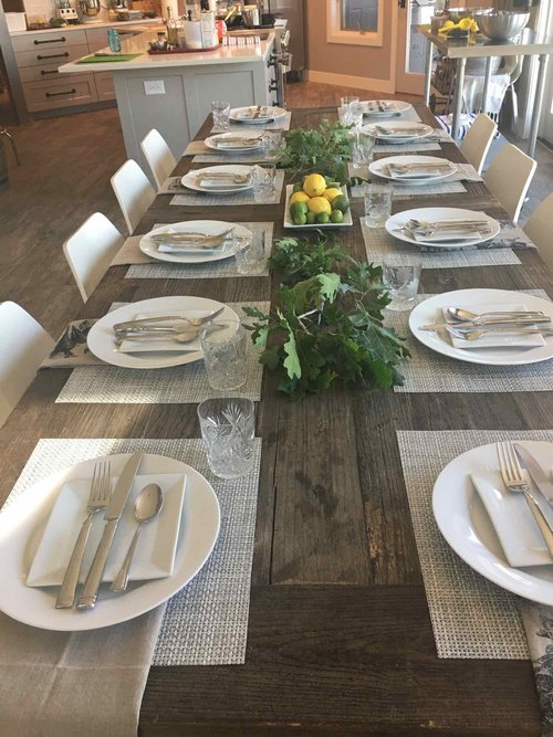 Farm House Style Table Setting at Mindful Cuisine in Park City, Utah
