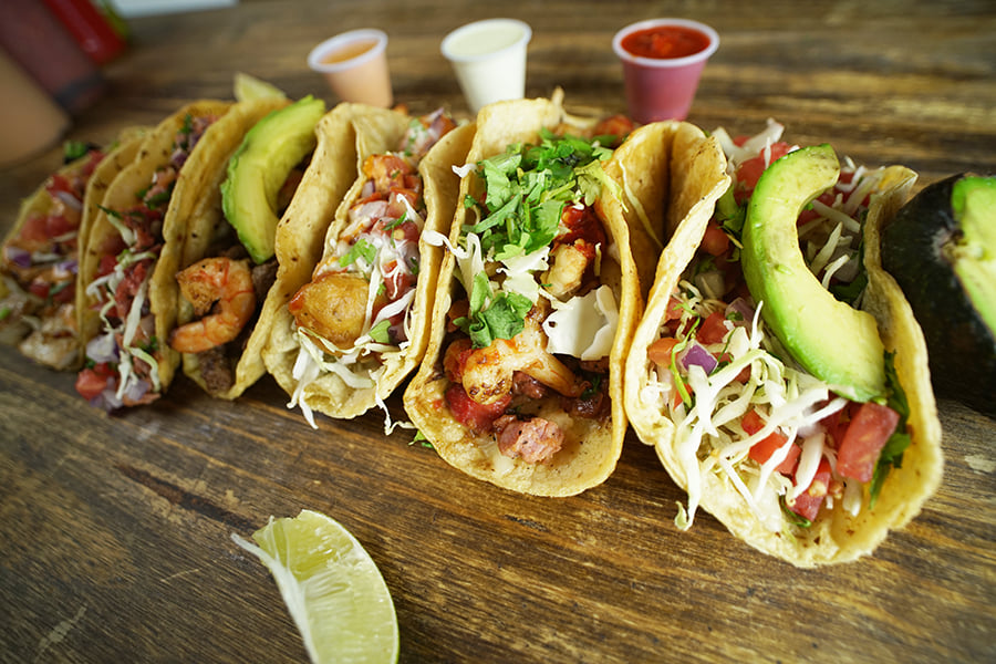 Tasy tacos at Oscar's Mexican Seafood in San Diego