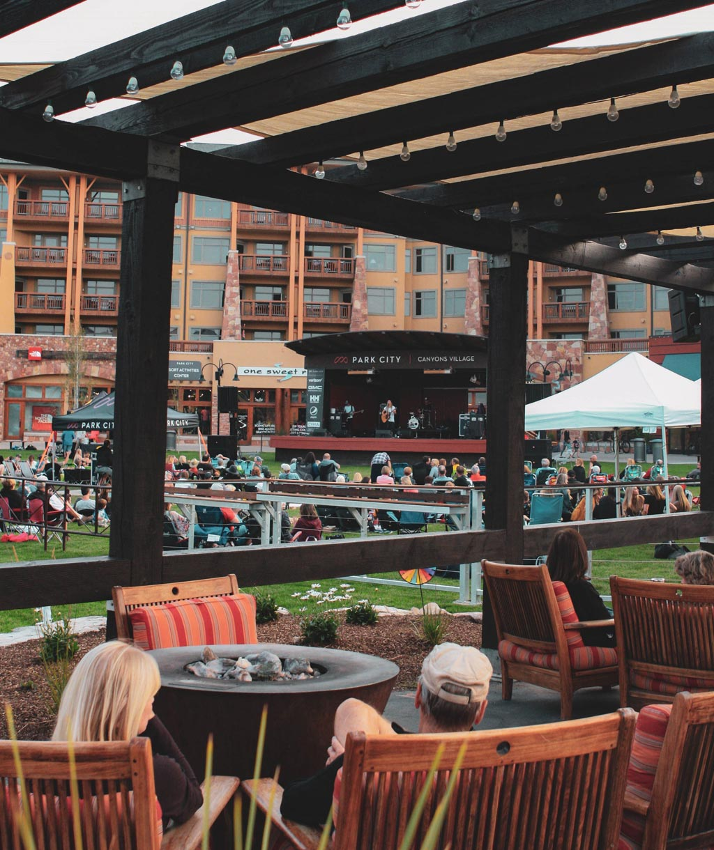 Summer Concert Series on the Lawn of Sundial Lodge in Canyons Village