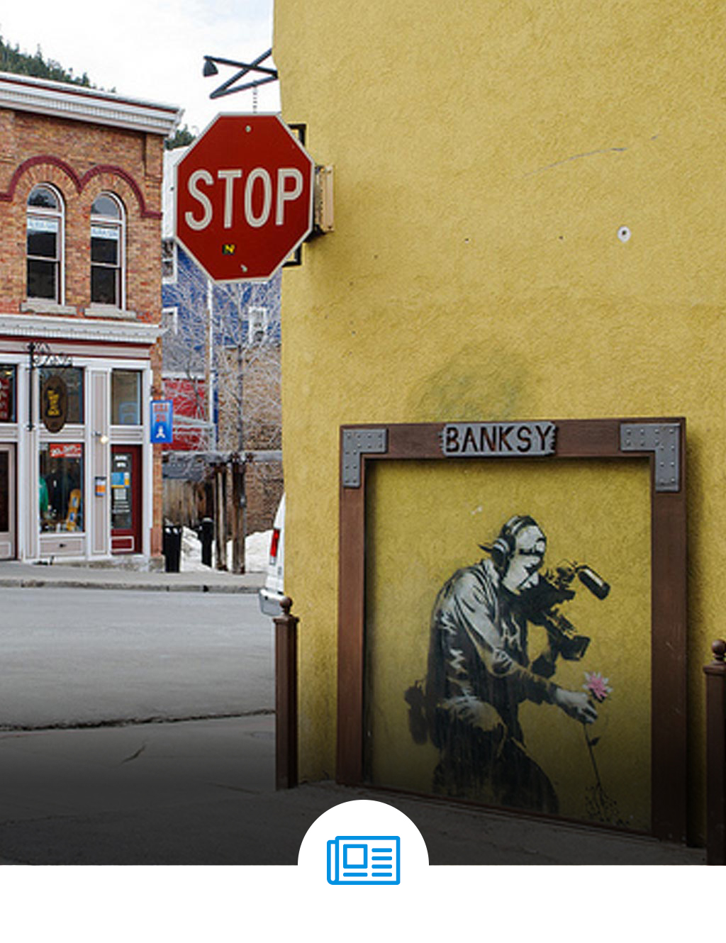 Banksy Graffiti Art on Main Street in Park City