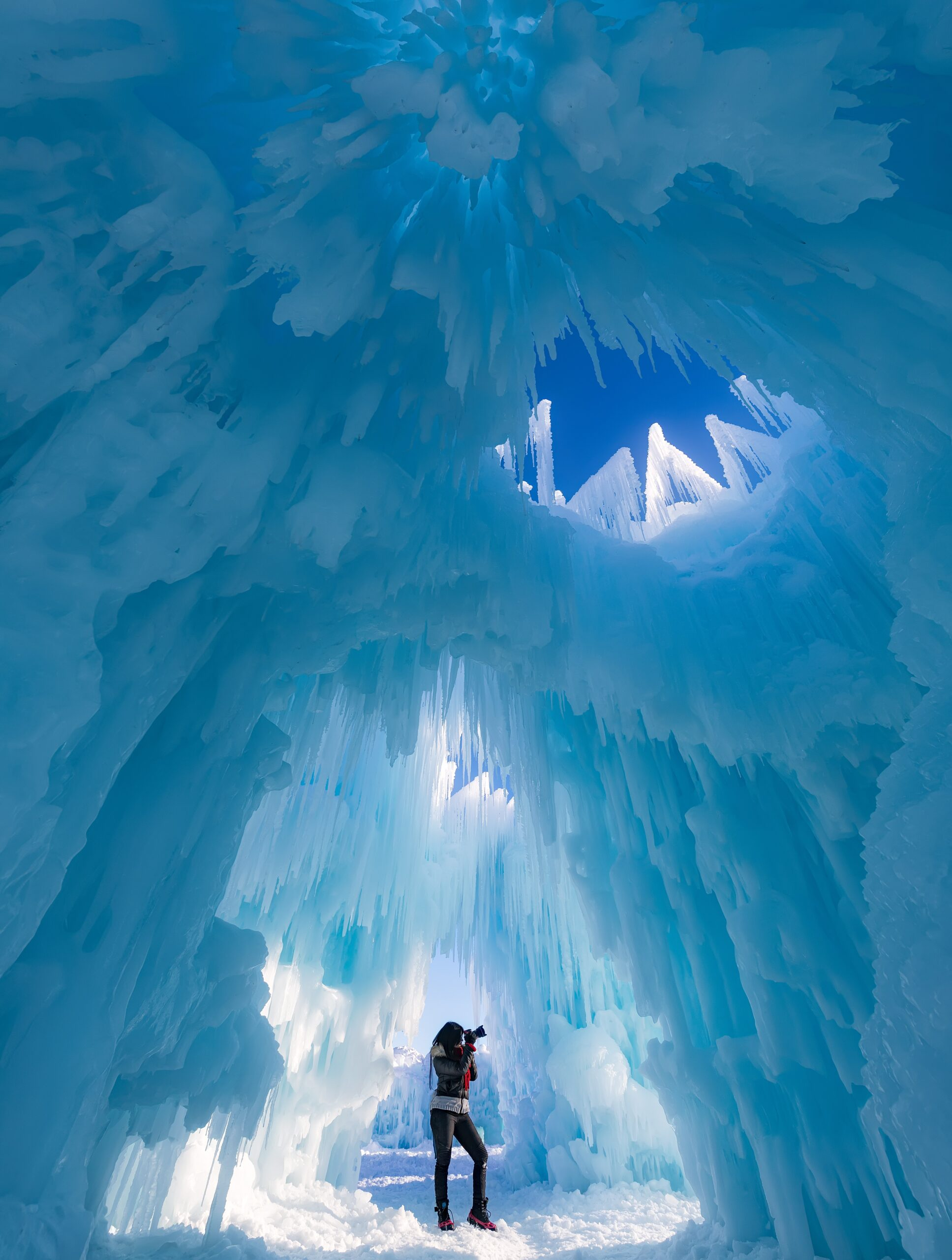 Woman in Ice Castles
