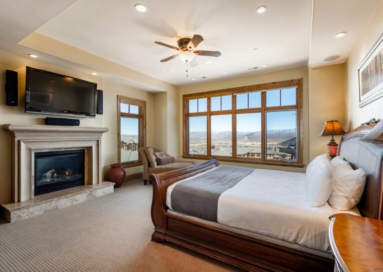 Master Bedroom at Slopeside Vintage Palace in Canyons Village