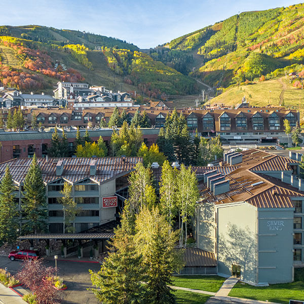 View of Park City Base Area On A Golden Summer Day