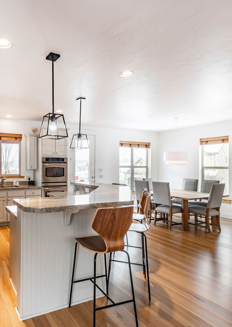 Modern Kitchen and Dining Area at Bear Hollow Village Polar Place